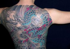 Traditional Japanese Back Piece Dragon Tattoo For Women, Tattoos For Women, Traditional Japanese Dragon, Japanese Dragon Tattoos, Back Pieces, Body Painting, Watercolor Tattoo, Image, Canvas