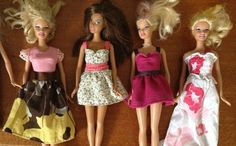 barbie's new clothes - Nice tutorial with the pattern to download.  She also shows how to make a muslin which is a sloped of sorts & used as a base pattern for designing.