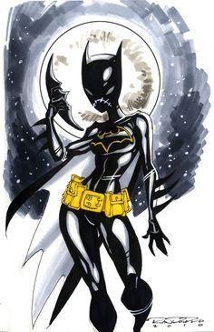 Sketch::Batgirl by *KharyRandolph on deviantART