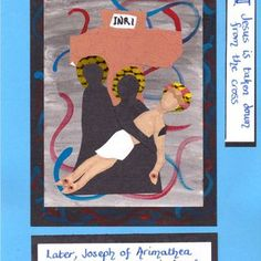 Stations of the cross 13 Holy Week, Bible Crafts, Lessons For Kids, Lent, Preschool Activities, Holiday Crafts, Catholic, Original Artwork, Prayers