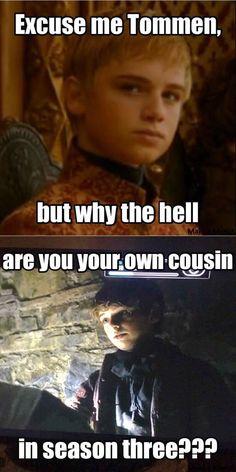 Game of thrones funny humour meme, Tommen Baratheon