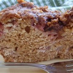 Rhubarb Coffee Cake - With loads of rhubarb bushes, I gotta try out all these new recipes...