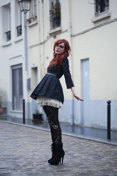 I like this outfit, I love crazy tights, but I don't know about these ones with this, overall I like.