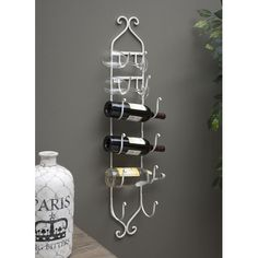 IMAX White Towel/Wine Rack