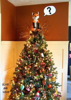 What does the fox say? {a Christmas tree topper}