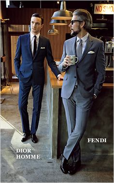 DIOR HOMME and FENDI