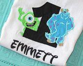 Monsters inc Mike Birthday shirt. Etsy.