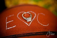 Basketball Engagement Photos don't know that i would actually do this but it's cute Basketball Engagement Photos, Basketball Wedding, Themed Engagement Photos, Sports Wedding, Love And Basketball, Engagement Couple, Engagement Pictures, Engagement Shoots, Wedding Engagement