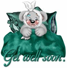 Get Well Glitter Grahics | Glitter Text » Get Well Soon » Get well soon