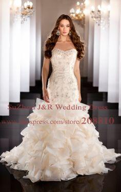 3d wedding gown   ... Trumpet-Wedding-Dress-with-3D-Flowers-Destination-Bridal-Gown-470.jpg
