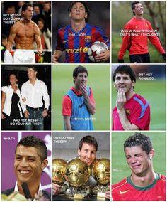 La verdadera relación entre #Cristiano #Ronaldo y #Messi #laenvidiamecorroe