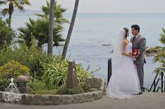 Silver And Red Themed Wedding At Heisler Park Gazebo Laguna Beach California