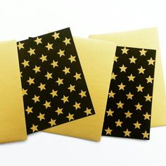 Gold star print cards by off print. Gold Stars, Star Print, Prints, Cards, Maps, Playing Cards