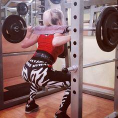 Fitness compression leggings. Hard squats.
