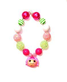 Lalaloopsy doll necklace chunky necklace bubblegum necklace girls necklace birthday  via Etsy