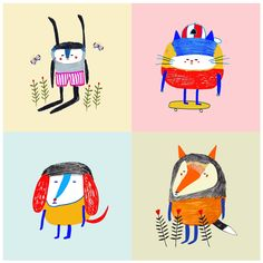 childrens illustrations by Ashley Percival. illustration - art - childrens - animals - nature - cute - drawing - ilustrator - artist