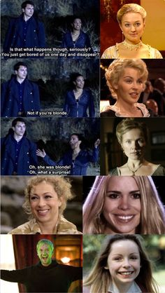 The doctor has a thing for blondes. And now the IS a blonde woman. The doctor has a thing Doctor Who Funny, Doctor Who Quotes, Serie Doctor, Crochet Braids, Doctor Who Companions, John Barrowman, Christopher Eccleston, 10th Doctor, Don't Blink