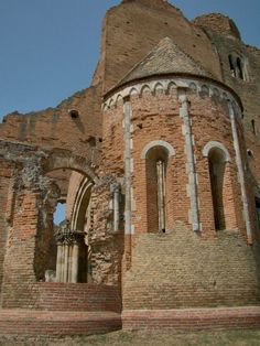 Araca is a medieval Romanesque church ruin located about 12 km north of Novi Bečej, Serbia.