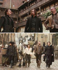 The Three Musketeers (2011) Starring: Luke Evans as Aramis, Matthew Macfadyen as Athos, Ray Stevenson as Porthos and Logan Lerman as D'Artagnan.