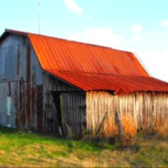 Here's a photograph of my neighbor's barn in rural Alabama. Old and rusting.