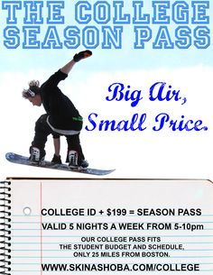 College ID + $199 = College Season Pass
