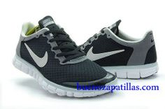 detailed pictures 8f6d3 8b7e1 Mujer Nike Free 3.0 V2 Zapatillas (color   vamp - negro , en el interior y  logotipo - gris   sole - blanco)