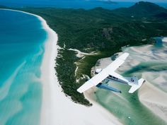 Whitehaven Beach, Whitsunday Island, Australia Whitehaven Beach, in Whitsunday Island, Australia, hosts a cove where the tide shifts the sand and waters together, creating a breathtaking combination. White sands and turquoise waters seem to blend seamlessly to make for a marvelous view.