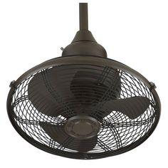 "Fanimation EXTRAORDINAIRE 18"" 3 Blade FanSync Compatible Oscillating Ceiling Fan Oil Rubbed Bronze Fans Ceiling Fans Indoor Ceiling Fans"