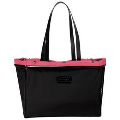 Tote bag - Tweedy Plume - Handbags - Longchamp - Black/malabar pink - Longchamp United-States
