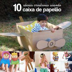 Tem uma caixa grande vazia em casa? Reúna as crianças e aproveite as nossas 10 ideias criativas para fazer brinquedos com caixas de papelão.