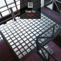 Yes you can make floors with glass blocks. #glassblocks #glazenbouwstenen #glasdallen #architecture #design #seves #glassblock #bouwglas #bouwglasgesman #glasblok