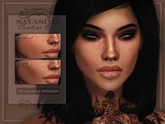 """sayasims: """"SAYASIMS ~ Contour N2 - 37 Colour options - Two packages - Can be found in Blush category & Skin Detail. - Both packages can be combined in cas for a more stronger contour - Sim in preview..."""