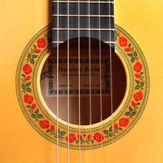 Francisco Barba guitar rosette
