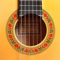 Francisco Barba guitar rosette