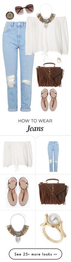 """""""Ripped mom jeans"""" by alwayswearwhatyouwanttowear on Polyvore"""