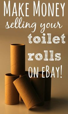 Now you need to be a little patient on this one and hear me out. I am being serious when I say that you can make money with the little cardboard tube from the middle of your toilet roll.