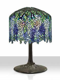 tiffany studios wisteria lamp lot 15