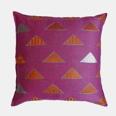 Pinnacle Fuchsia Pillow, euro
