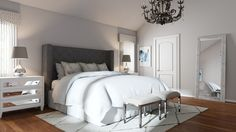 Lush, cozy and sophisticated glam bedroom. Bedroom Decor Cozy, Bedroom Furnishings, Minimalist Room, Bedroom Makeover, Awesome Bedrooms, Glam Bedroom, Bedroom Decor On A Budget, Bedroom Color Schemes, Bedroom