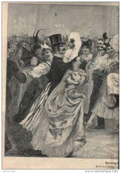 """Karnevals Francaise - Druck, entnommen  aus """"die Gartenlaube"""", 1897"""