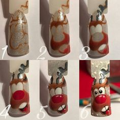 Rudolph... Nail Art Design Tutorial