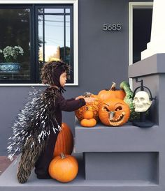 Porcupine costume using plastic zip ties and electrical tape