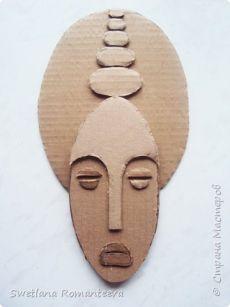 Gesichter - papier - Gesichter - papier - Gesichter - papier - La fabrication avec feuille couvre seul étendu éventail à l'ég Cardboard Mask, Cardboard Sculpture, Cardboard Crafts, Clay Crafts, Sculpture Art, Diy And Crafts, Arts And Crafts, Paper Crafts, Art Diy