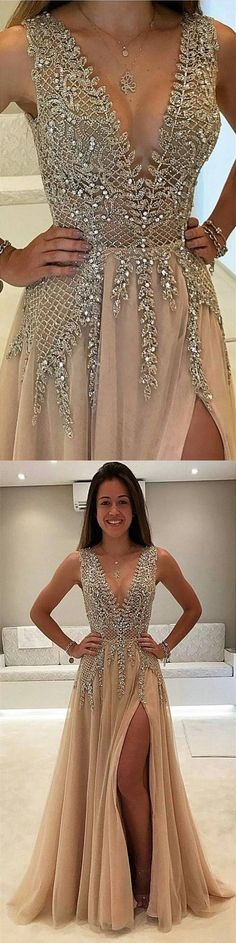 champagne prom dresses,luxury prom dresses,modest prom dresses,sparkly prom dresses,beaded prom dresses,@simpledress2480