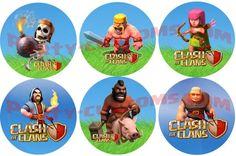 """One dozen 2.5"""" Clash of clan stickers"""