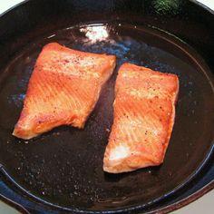flipped salmon