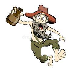 Illustration about Old dancing hillbilly with a jug of moonshine. Illustration of moonshine, dancing, scene - 49803114 Cartoon Kunst, Cartoon Drawings, Cartoon Art, Classic Cartoon Characters, Classic Cartoons, Dream Catcher Tattoo Design, Caricature Artist, Graffiti Characters, Flamingo Art
