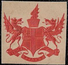 + Early Era U.K.Dragons Embossed Envelope Seal Unknown used