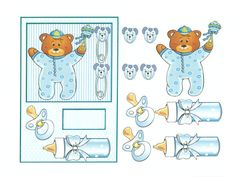 3d evenement Baby Crafts, Diy And Crafts, Paper Crafts, Paper Tags, 3d Paper, Baby Pictures, Cute Pictures, Baby Shower Clipart, Shower Baby