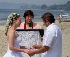 Beach Wedding Exchanging Rings